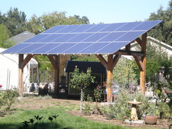 This Project Consisted Of A 24 Foot By 16 Heavy Timber Structure To Support 4 830 Watt Solar Panel System Be Used As Patio Cover In Ground